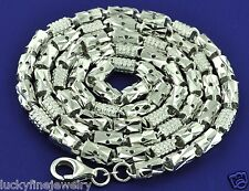 40.00 GRAMS 18K BARREL BOX DESIGN NECKLACE WHITE GOLD CHAIN INVESTMENT 24 INCH
