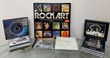 Rock Art Album Cover Book Bundle CD Pink Floyd Led Zeppelin Kiss Cash Beatles