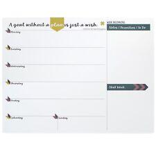 A4 Weekly Planner Desktop Notepad Horizontal Plan 55 sheets 80gsm Tabitha Wilde