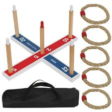 Wooden Ring Toss Game Set for Camping/Carnival/Outdoor/Lawn/Party/Yard Carry Bag