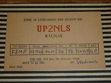 QSL CARD CARTE RADIO lithuanian ssr kaunas