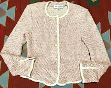 Vintage St. John Collection Blazer Top Pink Size 10 Santana Knit