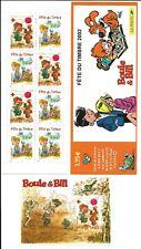 Boule et Bill Fête du Timbre 2002 - Carnet 3467 et Bloc n°46. Neufs**