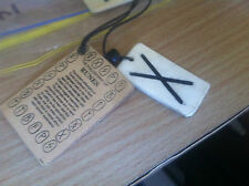 "BONE RUNE ""X"" PARTNERSHIP SYMBOL NECKLACE.        (142B)"