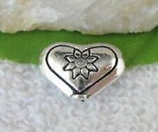 10pcs Tibetan Silver Floral Heart Spacer Beads T10616