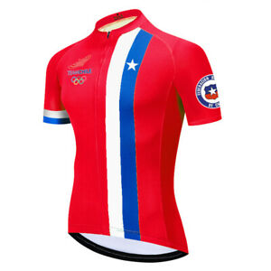 Chile Men Cycling Jersey Bib Short Bicycle Bike Mountain MTB Shirt Team Clothing