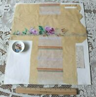"""Antique c1860 French Hand Painted Textile Design On Paper~Lavender~21""""X17.5"""""""
