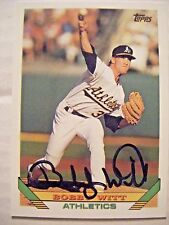 BOBBY WITT signed A's 1993 Topps baseball card AUTO Autographed RANGER CARDINALS