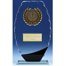 Singular Glass Trophy In 3 Sizes Free Engraving up to 30 Letters