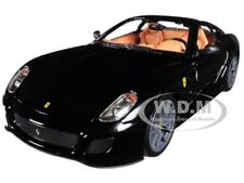 FERRARI 599 GTO BLACK 1/24 DIECAST MODEL CAR BY BBURAGO 26019