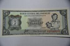 Paraguay 5 Guaranies 1963 P195b & Suriname 5 Gulden 1963 P120b UNC Banknote.