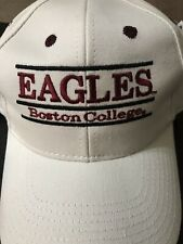 Vintage White Bar Style  BC Boston College Eagles Snapback Hat By The Game.. New