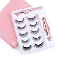 5 Pairs Magnetic Eyelashes Eyeliner Eyelash Curler Natural Long Thick False