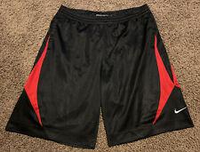 Nike Shorts Pockets Black Red Athletic Basketball Adult Size Large L