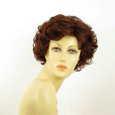 wig short curly woman dark brown intense coppery ref: 322 juliette PERUK
