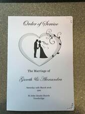 1 Personalised Wedding Order of Service / Order of DayHearts