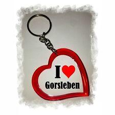 Herz Schlüsselanhänger I Love Gorsleben Keyring Liebe Weihnachten