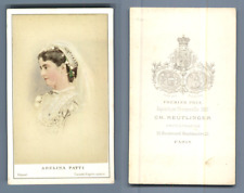 Adelina Patti, cantatrice italienne vintage carte de visite, CDV,  CDV, tirage