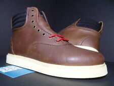 SUPRA HENRY BOOTS BROWN FG LEATHER CREAM OFF WHITE BLACK RED S03007 NEW 9.5