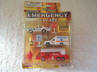"Mega Racer Die Cast Metal Emergency Play Set "" NIP "" GREAT SET """