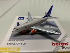 SAS Boeing 737-600 (SE-DNM) 1:400 Herpa 560306
