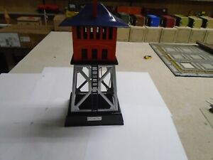 BLUE AND ORANGE MTH/LIONEL SIGNAL TOWER, standard scale, #438 REPAINTED