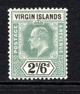 British Virgin Islands KEVII  1904  2s.6d Green & Black SG61 LM/Mint