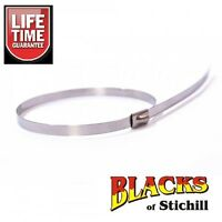 Blue Spot Tools-10off  4.6x300mm Stainless Steel Steering Rack Gaiter Ties,40065