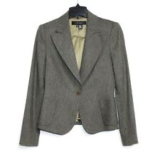 Zara Women - 8 (M) - NWOT - Army Green Tweed Wool Blend 2-Button Blazer Jacket