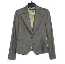 Zara Women - 8 (M) - NWOT - Army Green Tweed Wool Blend 2-Button Blazer Jacket