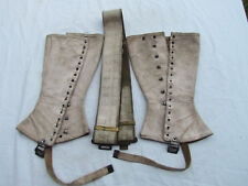 GAITERS AND BELT MP FRANCE FREE WW2