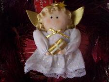 Angle fabric ornament/Vintage Christmas doll fabric ornament/Christmas decor