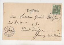 Leipzig-Eisenach Bahnpost Zug 26 CACHET 16 août 1900 410b