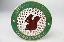 Email Auto Plakette - Land & Golf Club Werdenfels - vintage car badge