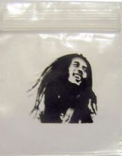 ONE 100 PACK 2 MIL BOB MARLEY ZIPLOCK BAGGIES RASTA 50 X 50 MM 2 MIL