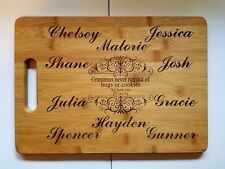 Personalized Bamboo Cutting Board for Grandma from Grandkids Gift 13 3/4""