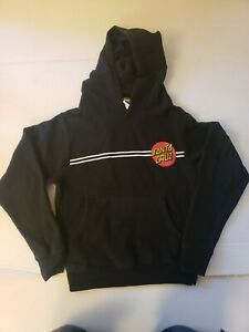 Santa Cruz Skateboards Hoodie Sweatshirt Youth Small Color Black
