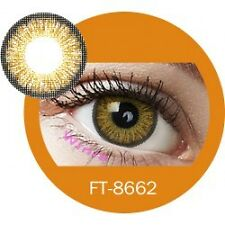 Lentilles de couleur marron 3 tons FT8662 - brown color contact lenses