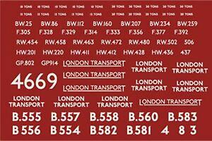 MODELMASTER 4669 LONDON TRANSPORT WAGON DECALS TRANSFERS EXPO MM4669