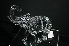 Elephant Etched Acrylic Figurine Beautiful Detail Trunk up is Good Luck
