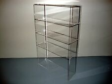 "Acrylic Lucite Countertop Display Case ShowCase Box Cabinet 12"" x 4"" x 19"""