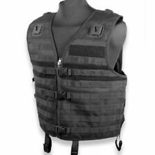 Eclipse Black Police Security Airsoft and Paintball Tactical MOLLE Vest Size L