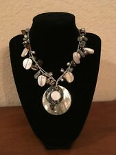 "NEW Silpada Sterling Silver Mother of Pearl Shell ""Boardwalk Necklace # N2098"