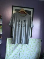 official Wasted Youth Large T-Shirt - Music L Grey