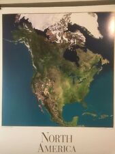 Art Print: NORTH AMERICA SATELLITE VIEW READY TO FRAME 24 X 29