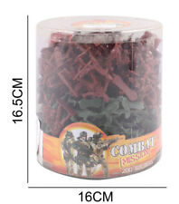 Toy Action Soldier Figures Set Combat Large Bucket of 200 men Traditional Pack