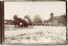 photo ancienne . ballons . Montgolfières. vers 1900