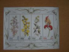 SOUTH AFRICA 1981 FLOWERS,SET OF 4 VALS U/M M/SHEET.