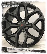 """20 x9"""" gloss black 2015 Chevrolet Silverado Snowflake OE replica wheels 6x5.5"""