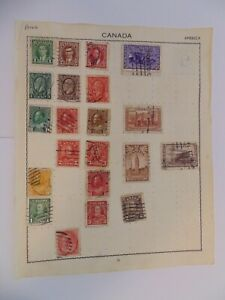 PA 416 - Page Of Mixed Canada Stamps